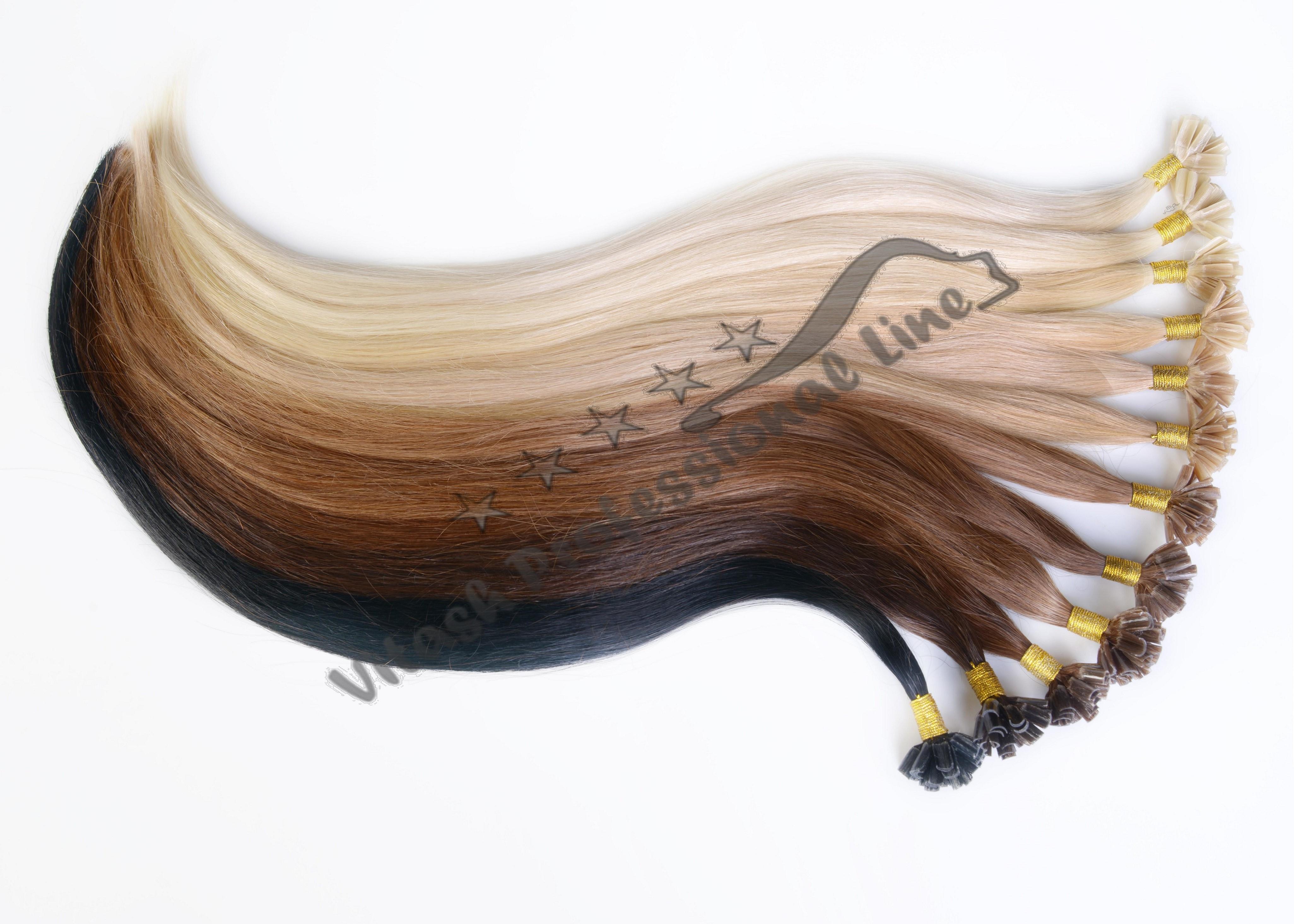 40 55 65 cm human hair echthaar extensions haarverl ngerung hart keratin bonding ebay. Black Bedroom Furniture Sets. Home Design Ideas